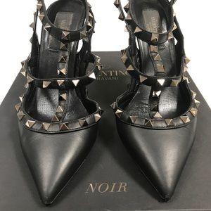 Valentino Garavani Shoes - Valentino Noir Rockstud Heels